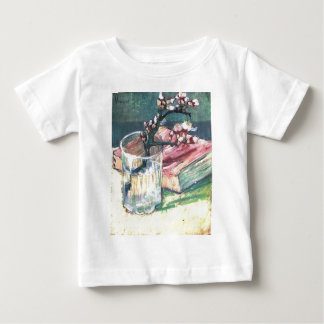 Blossoming Almond Branch in a glass and a book Baby T-Shirt