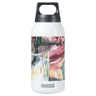 Blossoming Almond Branch in a glass and a book Insulated Water Bottle