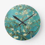 Blossoming Almond Tree by Van Gogh Round Wall Clock
