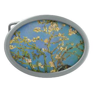 Blossoming Almond Tree by Van Gogh, Fine Art Belt Buckle