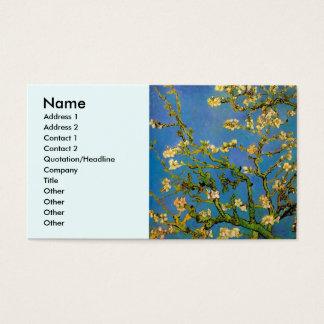 Blossoming Almond Tree by Van Gogh, Fine Art Business Card