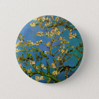 Blossoming Almond Tree by Van Gogh, Fine Art Button