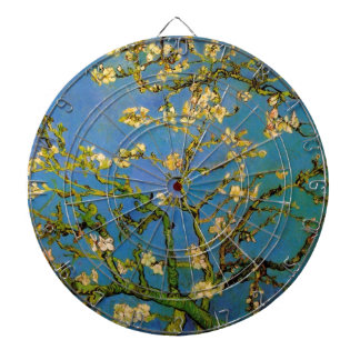 Blossoming Almond Tree by Van Gogh, Fine Art Dartboard With Darts