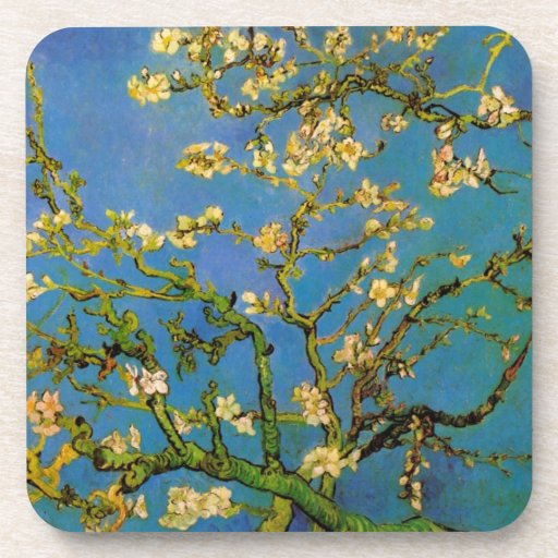 Blossoming Almond Tree by Van Gogh, Fine Art Drink Coasters