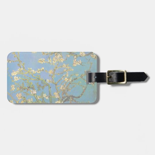 Blossoming Almond Tree by Van Gogh, Fine Art Luggage Tag