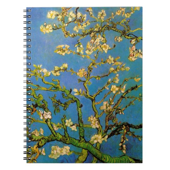 Blossoming Almond Tree by Van Gogh, Fine Art Notebook