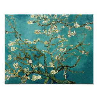 Blossoming Almond Tree by Van Gogh Poster