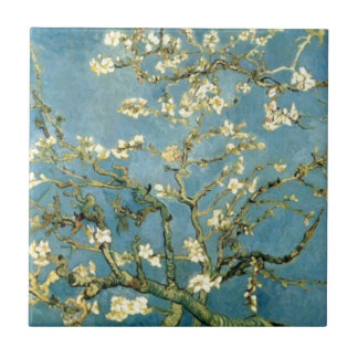 Blossoming Almond Tree by Van Gogh Tile