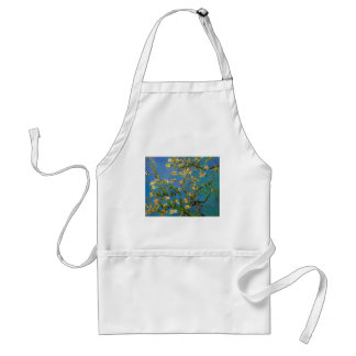 Blossoming Almond Tree by Van Gogh, Vintage Flower Adult Apron
