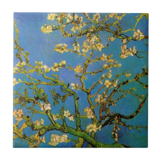 Blossoming Almond Tree by Van Gogh, Vintage Flower Tile