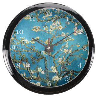 Blossoming Almond Tree by Vincent van Gogh. Fish Tank Clock