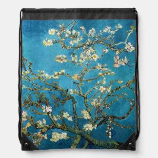 Blossoming Almond Tree by Vincent van Gogh. Drawstring Bag
