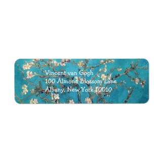 Blossoming Almond Tree by Vincent van Gogh Label