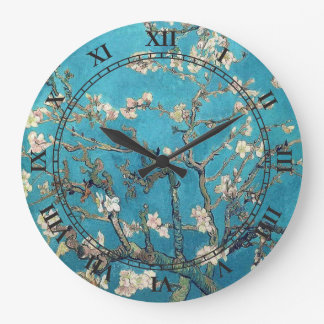 Blossoming Almond Tree by Vincent van Gogh Large Clock