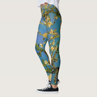 Blossoming Almond Tree by Vincent van Gogh Leggings