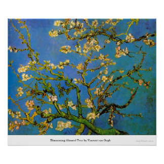 Blossoming Almond Tree by Vincent van Gogh Posters