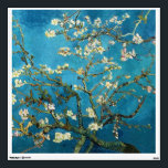 """Blossoming Almond Tree by Vincent van Gogh. Wall Sticker<br><div class=""""desc"""">Blossoming Almond Tree by Vincent van Gogh.  Fine art,  famous impressionism vintage floral oil painting. Farm,  agriculture.</div>"""