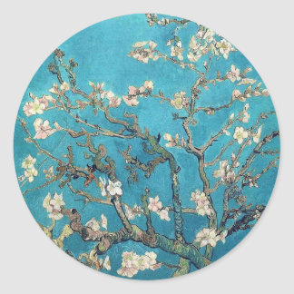 Blossoming Almond Tree Classic Round Sticker