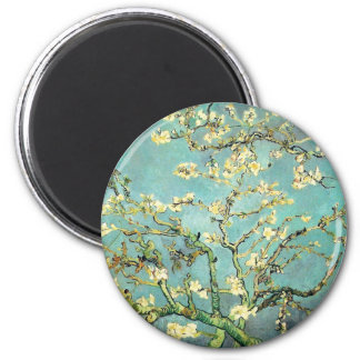 Blossoming Almond Tree Van Gogh Fine Art 2 Inch Round Magnet