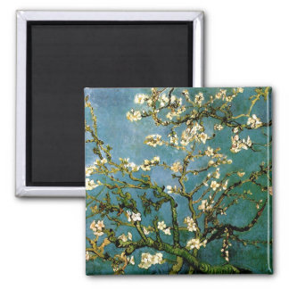 Blossoming Almond Tree Van Gogh Fine Art 2 Inch Square Magnet