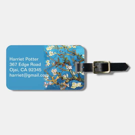 Blossoming Almond Tree Van Gogh Fine Art Luggage Tag