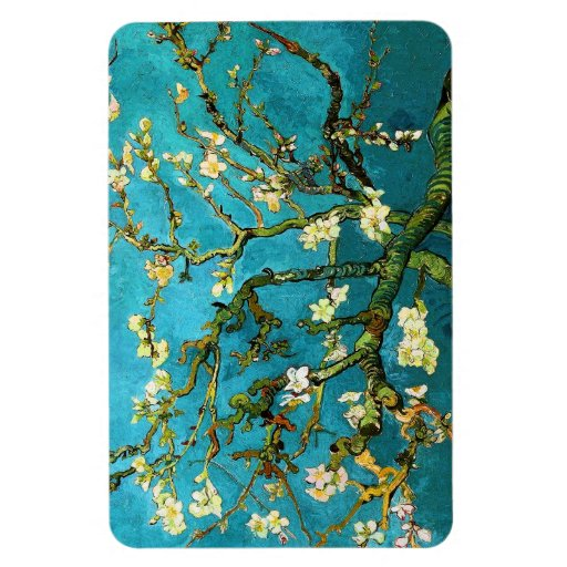 Blossoming Almond Tree Van Gogh Fine Art Rectangular Photo Magnet