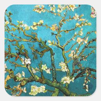 Blossoming Almond Tree Van Gogh Fine Art Square Sticker