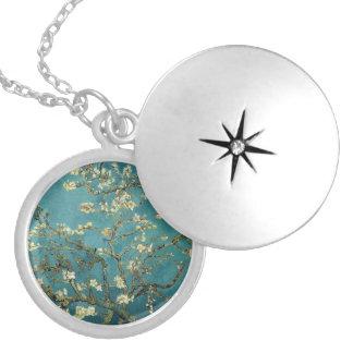 Blossoming Almond Tree - Van Gogh Round Locket Necklace