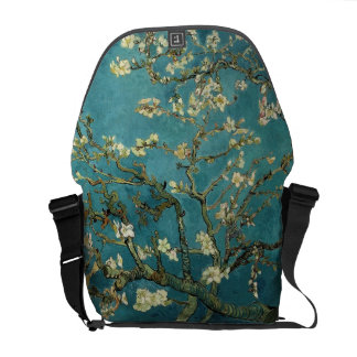 Blossoming Almond Tree, Vincent van Gogh. Courier Bag