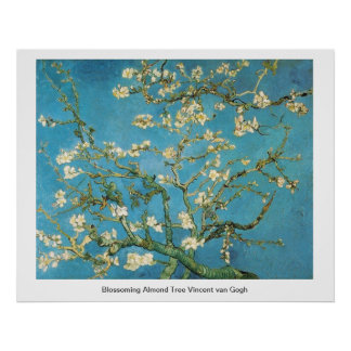 Blossoming Almond Tree  Vincent van Gogh Print
