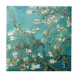 Blossoming Almond Tree Vintage Floral Van Gogh Ceramic Tile