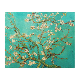 Blossoming Almond Tree Wood Canvas