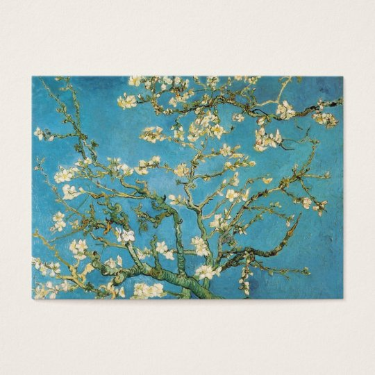blossoming almond trees, Van Gogh Business Card