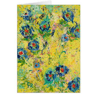 """""""Blossoming Blue"""" Card"""