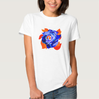 Blossoming Blue Rose T-Shirt