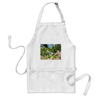 Blossoming branches of a pear tree in spring adult apron