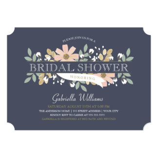 Blossoming Bridal Shower in Navy Card