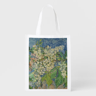 Blossoming Chestnut Branches, 1890 Grocery Bag