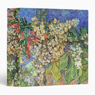 Blossoming Chestnut Branches by Van Gogh, Fine Art 3 Ring Binder