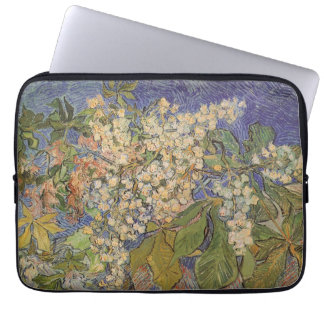 Blossoming Chestnut Branches by Vincent van Gogh Laptop Sleeve