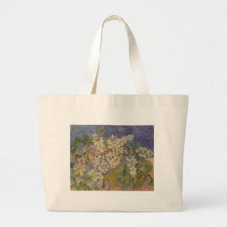 Blossoming Chestnut Branches by Vincent van Gogh Large Tote Bag