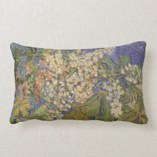 Blossoming Chestnut Branches by Vincent van Gogh Lumbar Pillow