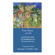 Blossoming Chestnut Branches  Vincent van Gogh. Business Card Templates