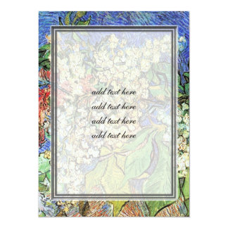 Blossoming Chestnuts Branches, Van Gogh. 5.5x7.5 Paper Invitation Card