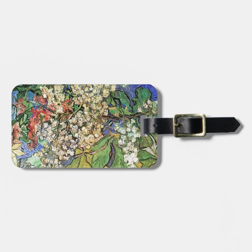 Blossoming Chestnuts Branches, Van Gogh Bag Tags
