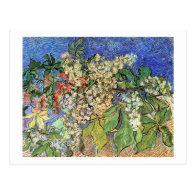 Blossoming Chestnuts Branches, Van Gogh Post Card