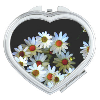 Blossoming darkness Heart Compact Mirror
