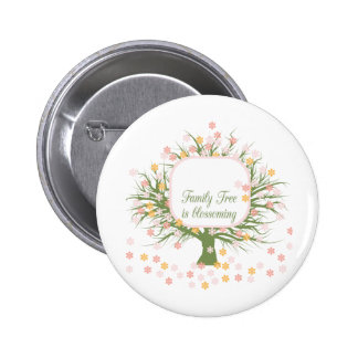 Blossoming Family Tree Buttons