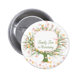 Blossoming Family Tree Pinback Buttons