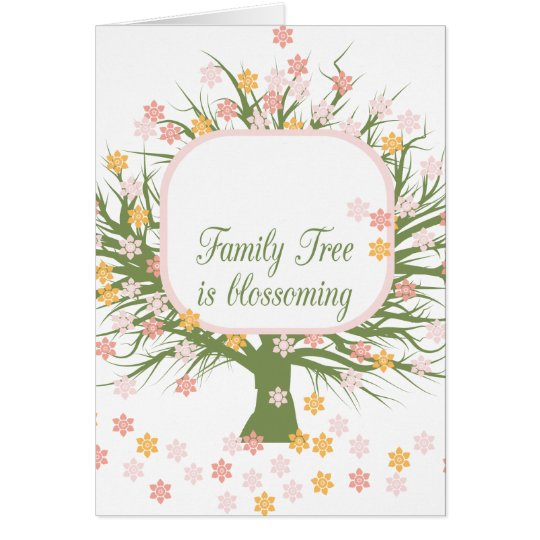 Blossoming Family Tree Card